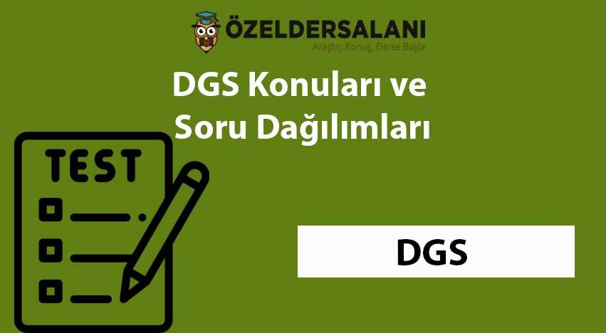 2021 DGS Konuları ve DGS Soru Dağılımı