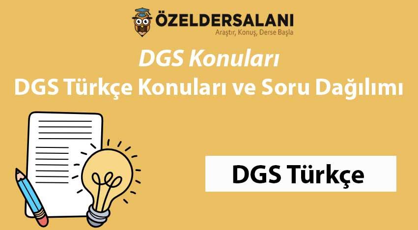 2021 DGS Türkçe Konuları ve Soru Dağılımı