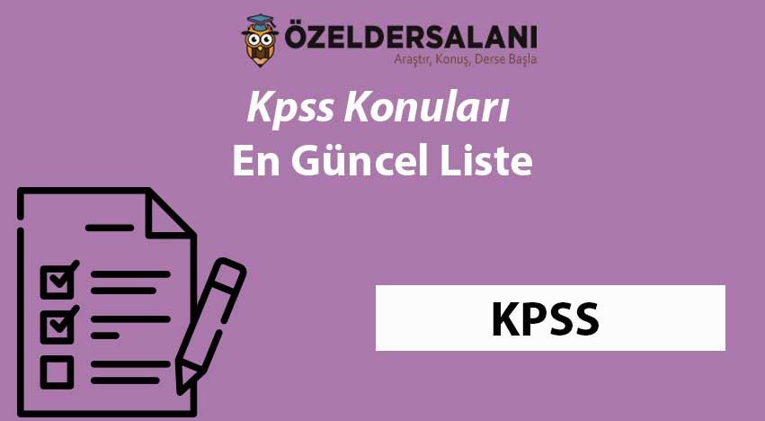 2021 Kpss Konuları ve Soru Dağılımları