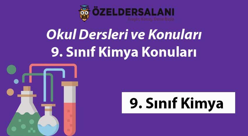 9.Sınıf Kimya Konuları