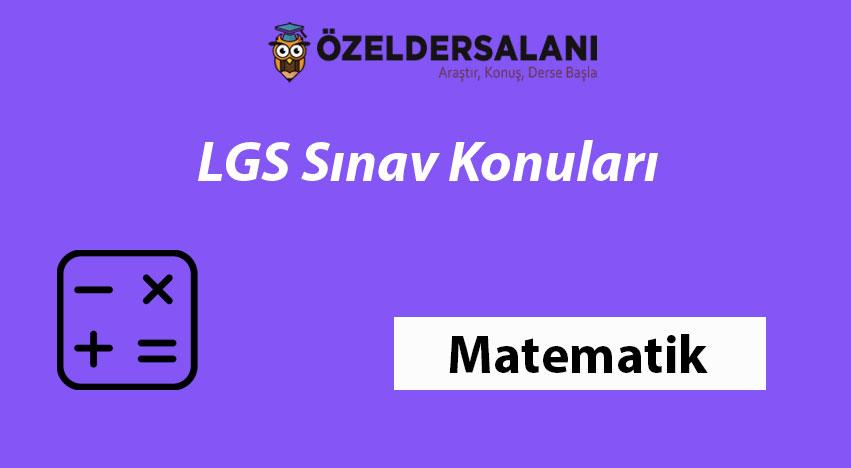 LGS Matematik Konuları & 2020 LGS Sınavında Neler Değişti?