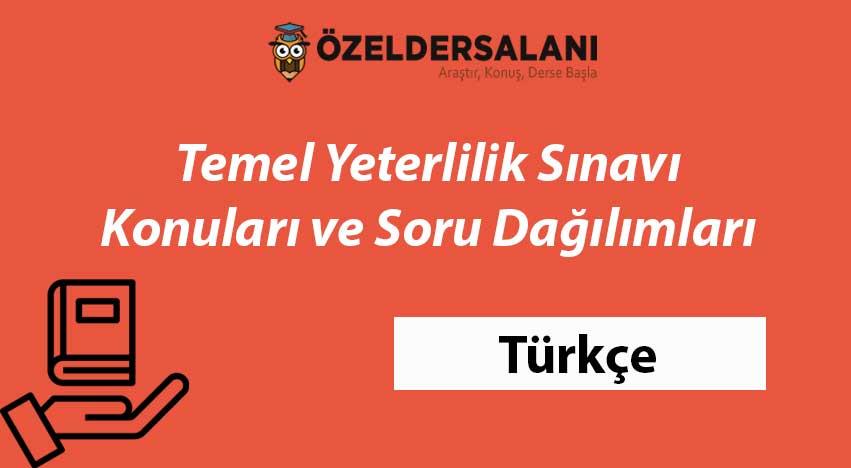 TYT Türkçe Konuları ve TYT Türkçe Soru Dağılımı