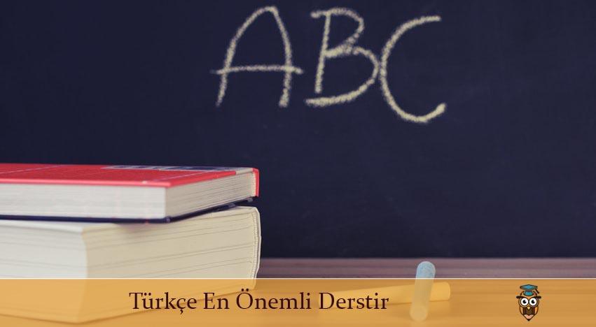 Türkçe En Önemli Derstir