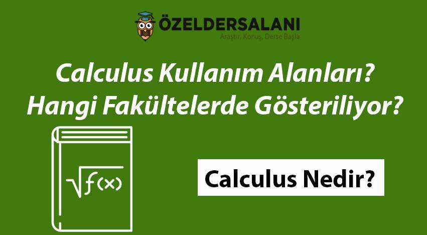 Calculus Nedir? Kullanım Alanları Nelerdir?