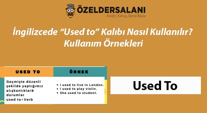 """İngilizcede """"Used to"""" Kalıbı Nasıl Kullanılır? Kullanım Örnekleri"""
