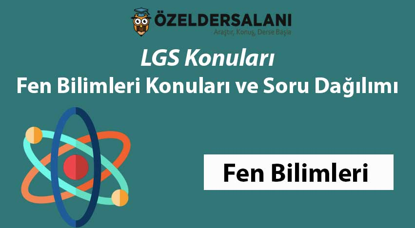 LGS Fen Konuları ve LGS Fen Bilimleri Soru Dağılımı