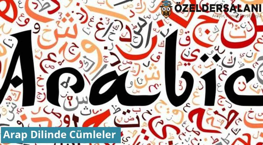 Arap Dilinde Cümleler