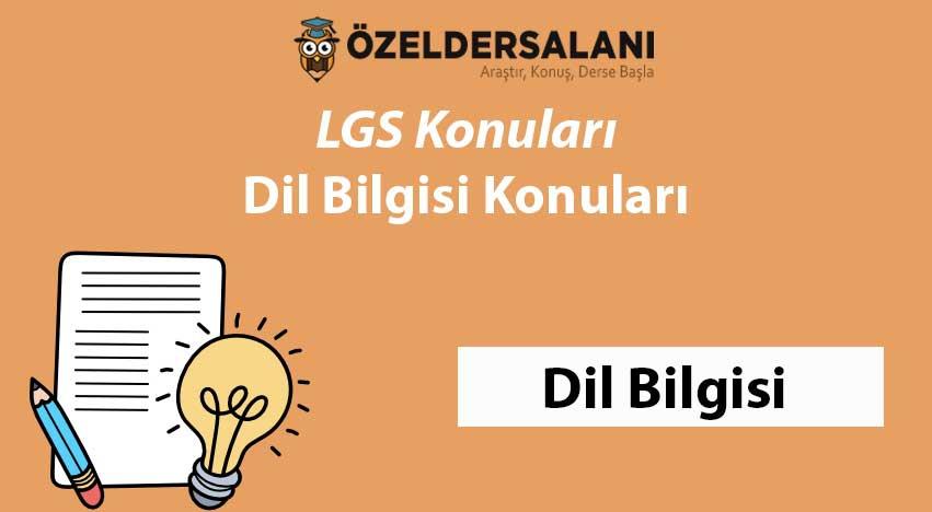 LGS Dil Bilgisi Konuları